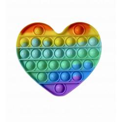 Игрушка Антистресс Pop It Rainbow сердечко с алфавитом