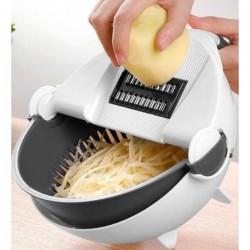Универсальная овощерезка с дуршлагом Wet basket vegetable cutter