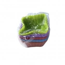 Форма для кекса силикон 10 шт в упак. 7*3см